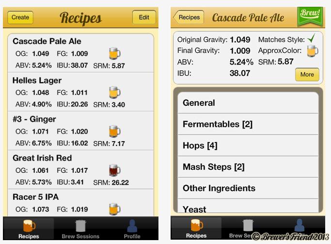 Brewer's Friend iPhone App 1.0 screen shots