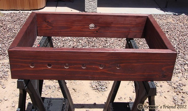 keezer collar stained with holes