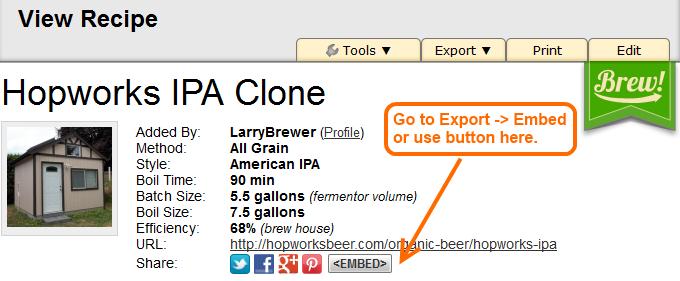 Brewer's Friend Label Generator