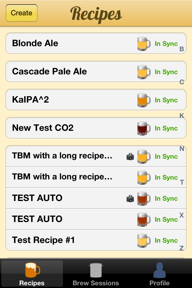 iPhone beer recipes