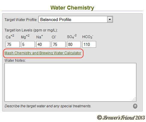 Recipes Integrated with Advanced Water Calculator